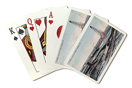 Coalinga, California - View of a Gusher at Lucile Oil Well (Playing Card Deck - 52 Card Poker Size with Jokers) - Oil Gusher