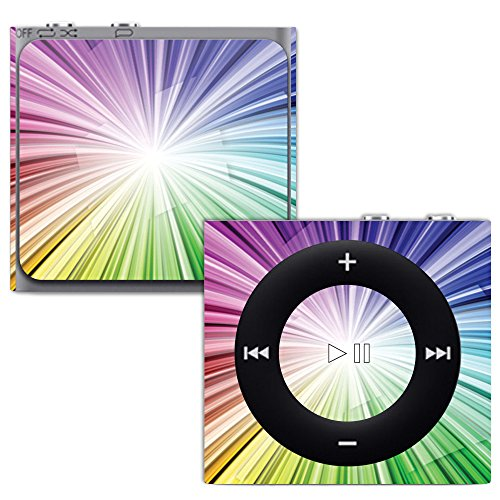 MightySkins Skin for Apple iPod Shuffle 4G - Rainbow Explosion | Protective, Durable, and Unique Vinyl Decal wrap Cover | Easy to Apply, Remove, and Change Styles | Made in The USA (Shuffle Case Protective Silicone)
