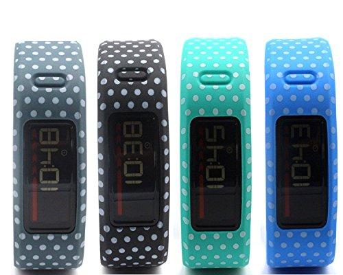 honecumi Compatible with Garmin Vivofit Replacement Watch Band/Wrist Strap/Bracelet for Men & Women Multi-Color Replacement Wrist Bands with Clasps Garmin Vivofit 1 Watch Band Replacement Accessory