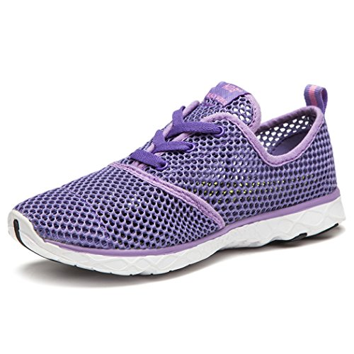 Women's Drying Shoe Mesh Aqua NewDenBer Water Purple Quick qTxwxZd8