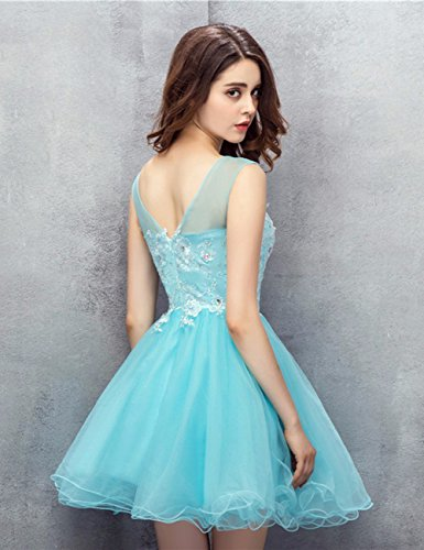 Gown Dress Short Lace Tulle Cocktail Prom Homecoming Orange Dress Sleeveless Party JAEDEN wvaxq1RnR
