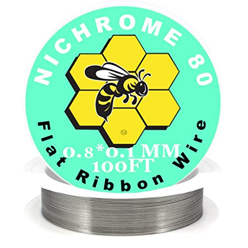 - Genuine Kbee's Nichrome 80 Series 0.8 x 0.1 Flat Ribbon Wire - 100ft