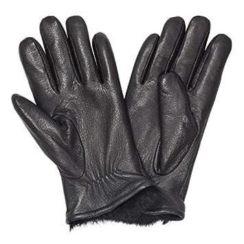 Large Mens Premium Leather Gloves w//Rabbit Fur Lining