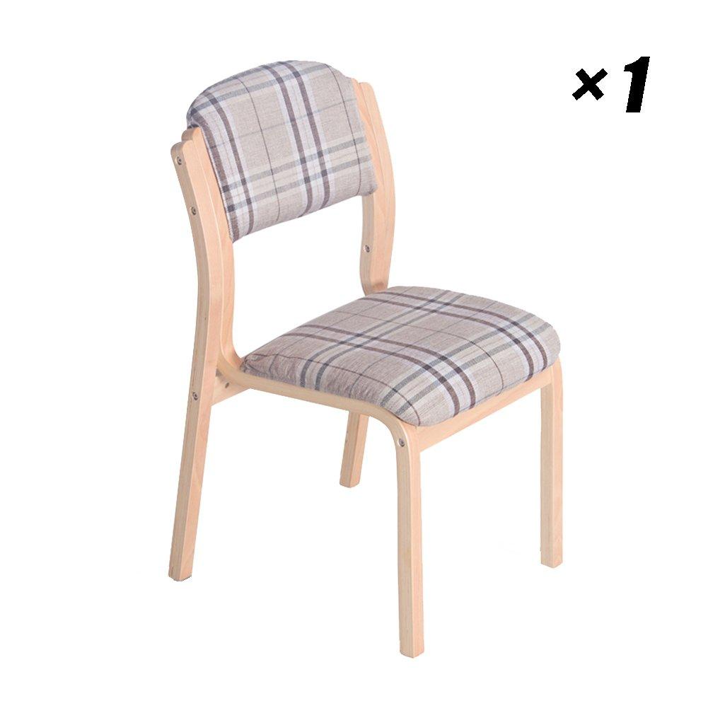 シンプルなラウンジダイニングチェアカフェ、レストラン、会議室、オフィス、ソリッドウッド、ヨーロピアンスタイルモダンなキッチンシート42×48×82cm (色 : 木の色, サイズ さいず : Set of 1) B07F2JQZ6P木の色 Set of 1