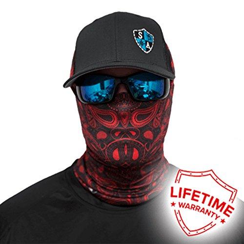 SA Company Face Shield™-Red Paisley
