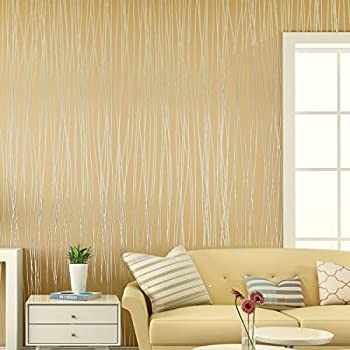 Non-Woven 3D Wallpaper, Print Embossed, Modern Stripe Fashion ...