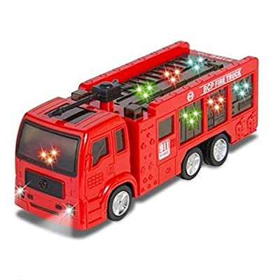 ToyZe Fire Truck for Kids : Kids Toy Fire Truck Electric Flashing Lights and Siren Sound, Bump and Go Action : Bup Bump Go Electric Flashing Lights by Phumon567