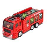 uhaul toy truck - ToyZe Fire Truck for Kids : Kids Toy Fire Truck Electric Flashing Lights and Siren Sound, Bump and Go Action : Bup Bump Go Electric Flashing Lights by Phumon567