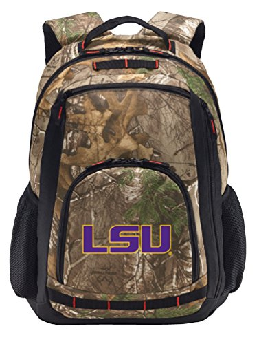 Broad Bay Cotton LSU Tigers Camo Backpack REALTREE LSU Ba...