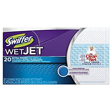 Swiffer-Wetjet Pads With The Power Of Mr. Clean Magic Eraser Bonus Pack 40 Extra-Powder Pads