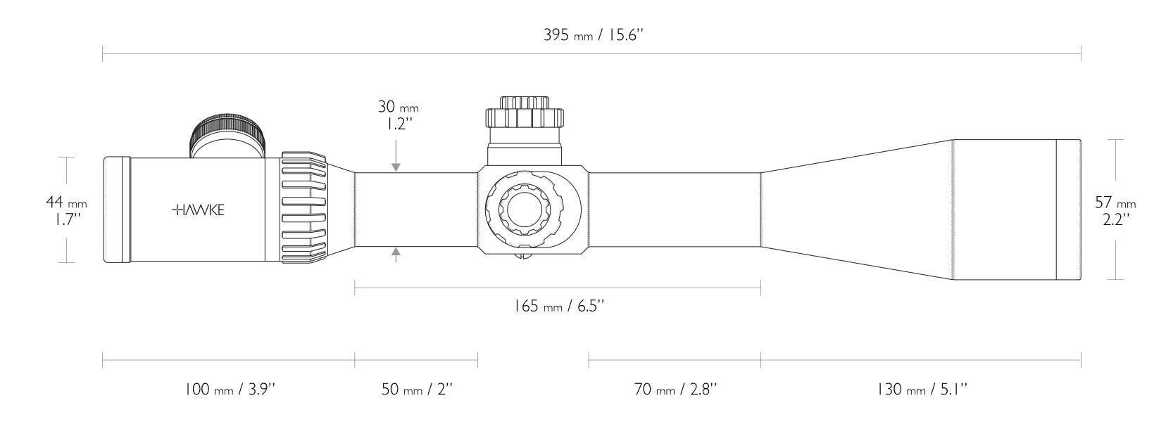Hawke Sport Optics Airmax 30 6-24x50 Side Focus AMX IR Riflescope by Hawke Sport Optics