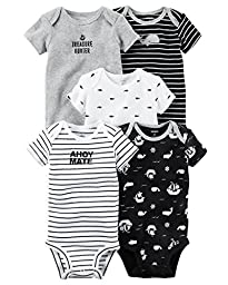 Carter\'s Baby Boys\' 5 Pack Bodysuits (Baby) Ahoy Mate, 3 Months
