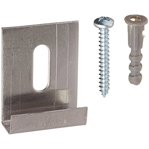 Prime-Line Products U 9254 J Mirror Hanger Clip with Screw, Stainless Steel,(Pack of 6)