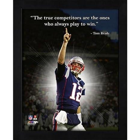 87504429b Amazon.com  Tom Brady New England Patriots (Pointing) Framed 11x14