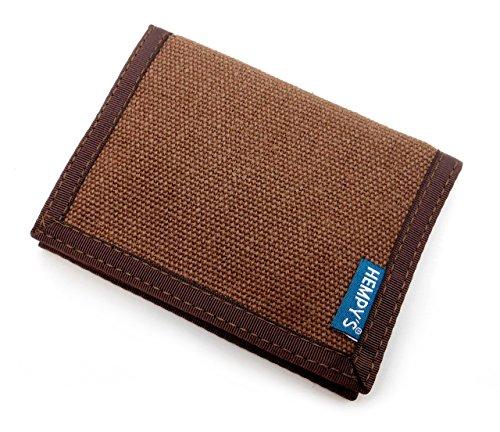 Hempy's Hemp Bi-fold Wallet - Brown - One Size - Hemp Accessories Hemp Wallets