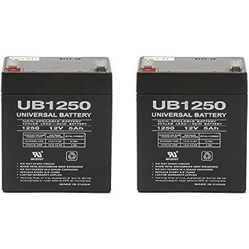 UB1250 SLA Battery 12 Volt 5 AMP Hours - 2 Pack