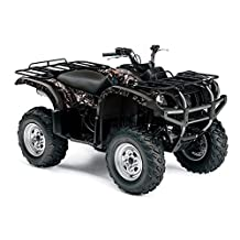 AMR Racing Yamaha Grizzly 660 ATV Quad Graphic Kit - Madhatter: Black, Silver