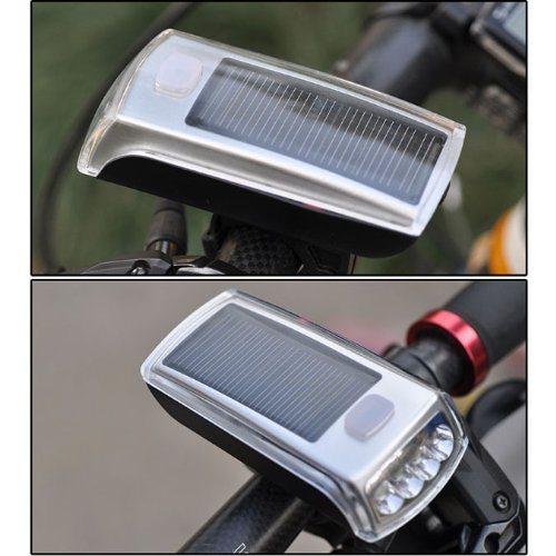 Pixnor Solar Bicycle Headlight Rechargeable