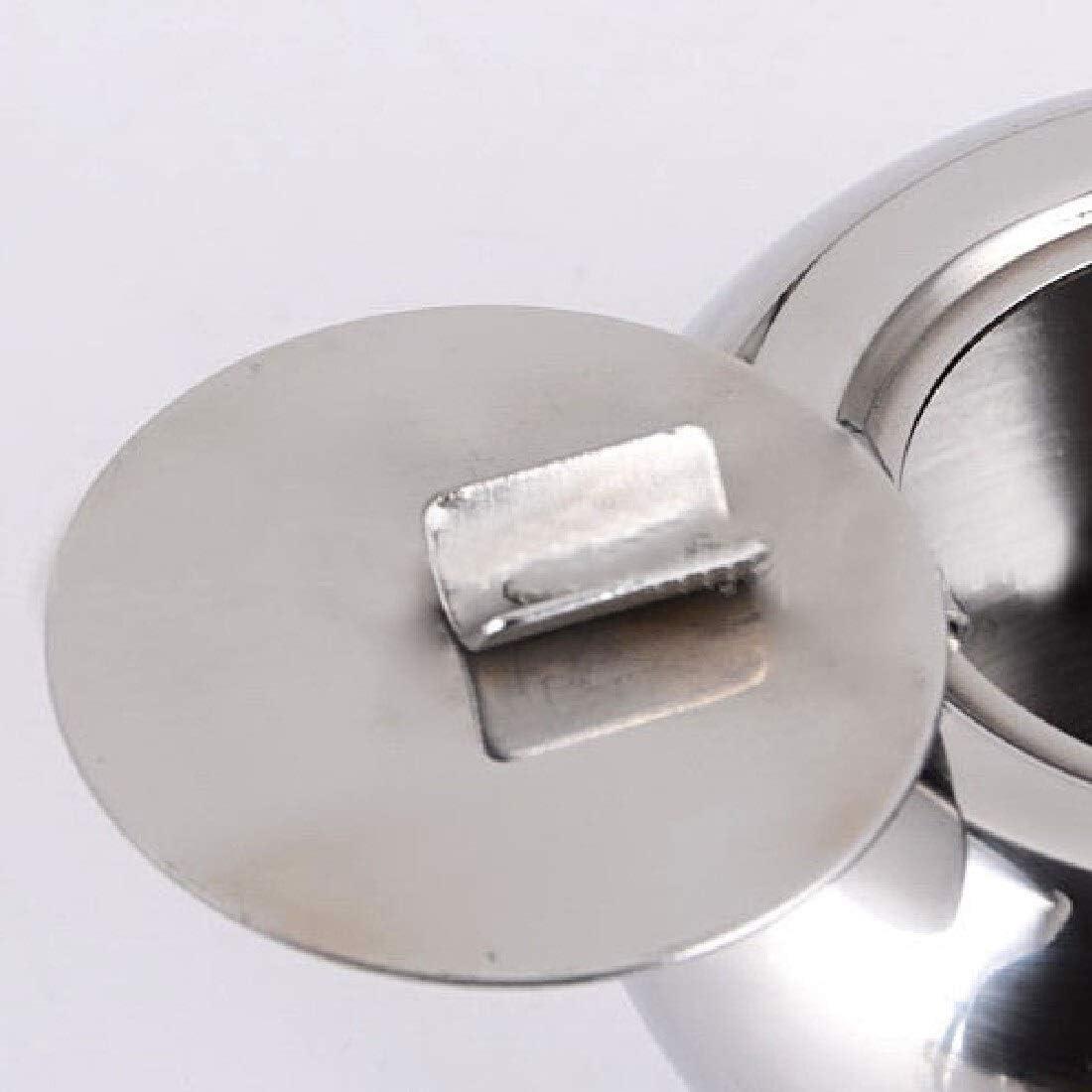 3/°Amy Cendrier de Voiture Portable Forme Tambour cr/éatif en acier inoxydable Couvercle Cendrier avec couvercle de voiture Salon Bureau Cendrier Cigarette cigares sans fum/ée Cendrier
