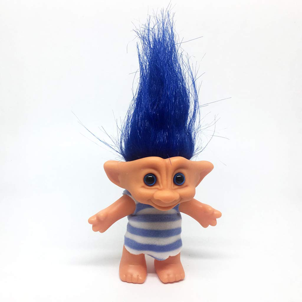 P Prettyia Dollhouse Miniature Retro Troll Doll Leprocauns Figures Toy Cake Toppers Kids Children School Project