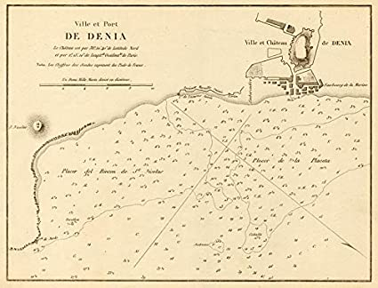 Alicante Map Of Spain.Amazon Com Port Of Denia Ville Et Port De Denia Spain Alicante