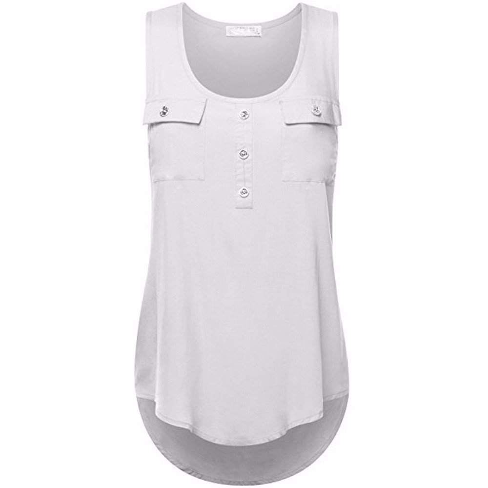 Camisoles of Women Sleeveless Tank Sexy Printed Vest Loose Crop Top Camis Blouse White