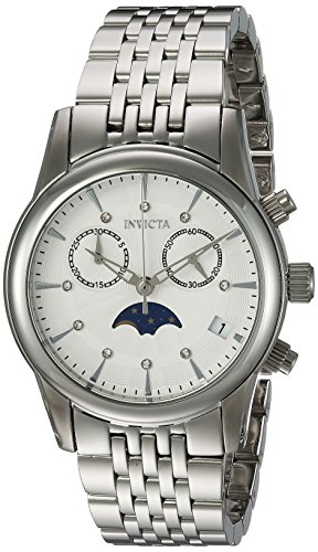Invicta Women's Angel Quartz Watch with Stainless-Steel Strap, Silver, 18 (Model: 22499)