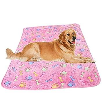 Xinjiener Manta de Gato Manta de Perro Mascota de Gato Suave Huella de Animal Cubierta de Cama de Mascota Impresa Manta de Mascota para Perros Gatos (S): ...