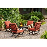 5-Pc. Hampton Bay Redwood Valley Patio Fire Pit Seating Set