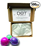 Polyolefin Heat Shrink Wrap Bags   nontoxic/odorless   500pcs set   Perfect bath bomb shrink wrap or soap packaging  wrapping, bottle sealer, arts and crafts, homemaking or other small items (4''x6'')
