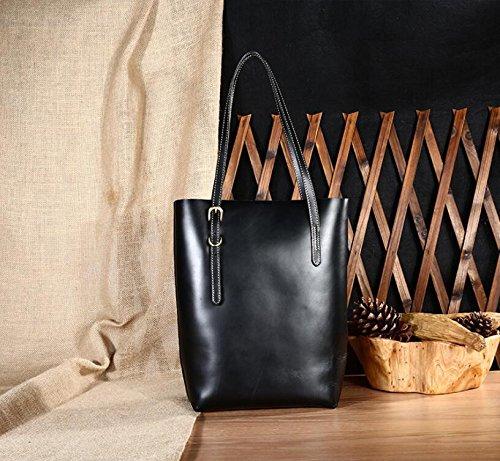 Weibliche Baodan Leder Umhängetasche lässige Handtasche