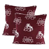 Mississippi State Bulldogs 16'' X 16'' Decorative Pillow - (Includes 2 Decorative Pillow)