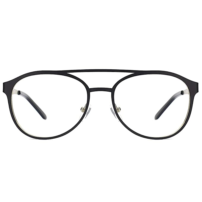 e29e666030f3 Image Unavailable. Image not available for. Color  Slocyclub Sex Aviator  Non Prescription Eye Glasses Frames Clear Lens
