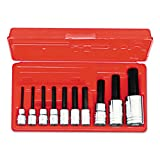 proto tool set - Stanley Proto J4900MA 3/8-Inch and 1/2-Inch Drive Metric Hex Bit Set, 10-Piece
