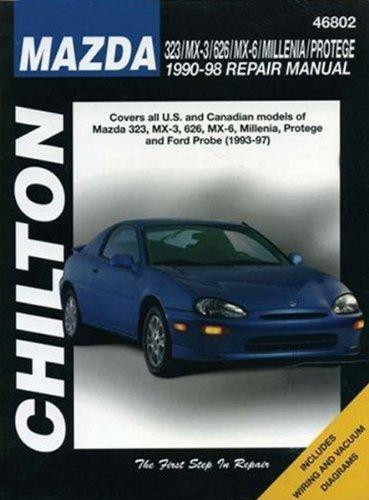 Chilton Manual for Ford Probe & Mazda 323, MX-3, 626, MX-6, Millenia & Protege (1990-1998)