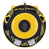 """Full Throttle 302000-300-001-17 Hole Shot 54"""" Single Rider Open Top Water Tube, Black and Yellow"""