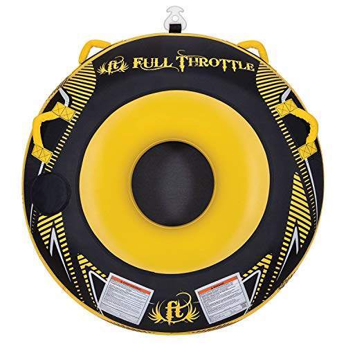 Full Throttle Hole Shot Towable Tube, Yellow ()