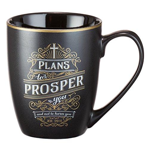 Mug - Plans to Prosper You, Matte Black Gilded