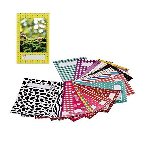 Film Stickers, 120 Colorful Film Decor Sticker Borders Set for Scrapbooking, Notes and Messages - 2x3 Inch Decoration Frames for FujiFilm Instax Mini 8 7s 25 50s 90 and Polaroid Cameras