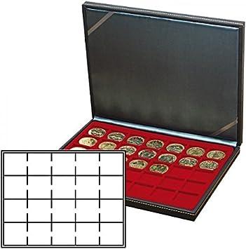 Lindner 2364-2722E Estuche monedas NERA M para 20 monedas-OCTOS-red: Amazon.es: Juguetes y juegos
