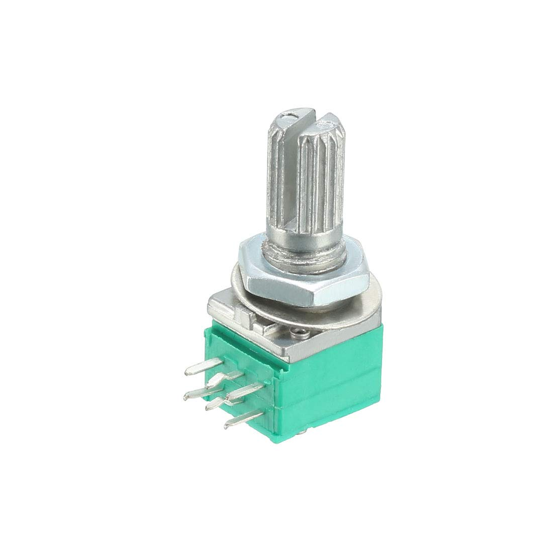 sourcing map RK097G 10K Ohm Variable Resistors Dual Turn Rotary Carbon Film Taper Potentiometer