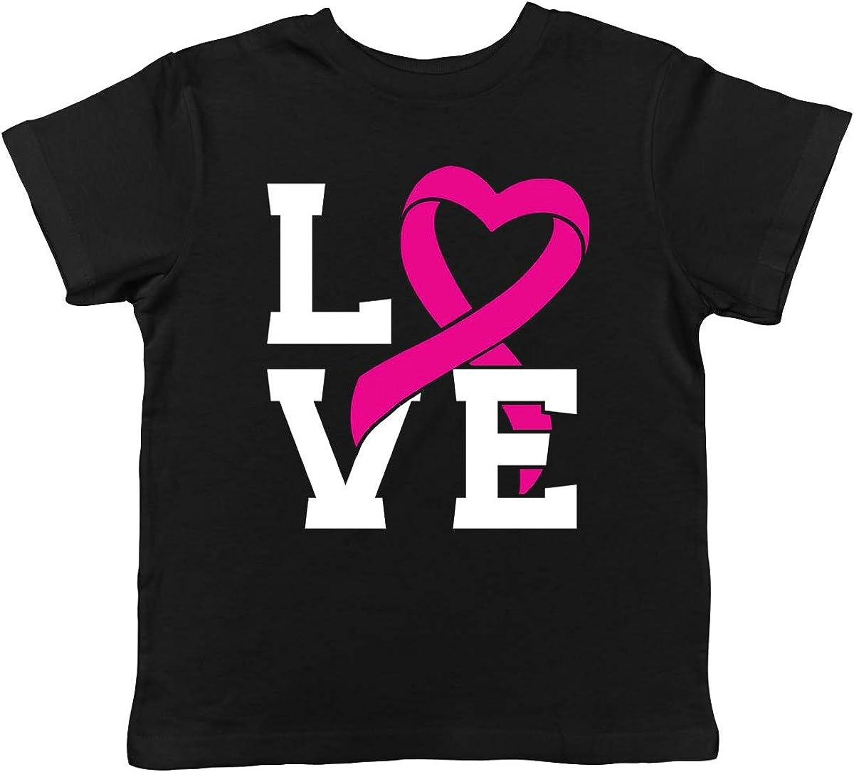 Pink Ribbon Flag Breast Cancer Awareness Month October Toddler T-Shirt