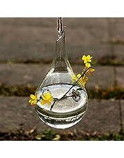 Hosaire 1X Colgante Cristal Florero Botella Terrario Hidroponico envase Decoracion Moderno Jarrón Decorativo para Decoración del