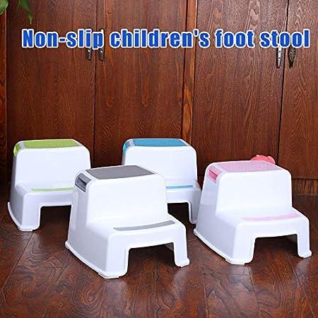 Ccioy WC T/öpfchen Kids 2 Step Stools Kleinkind Rutschfester Bad T/öpfchenhocker