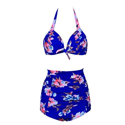 JOYMODE Bikini Top Push Up Swimwear Set Tankini Thong Halter High Waist
