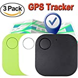 GPS Tracker for Pet, Mini Smart Key Finder Locattion Tracking, Square Anti Lost for Cat Dog Wallet Bag Luggage with App Control Alarm Patch Wireless Seeker Selfie Remote Shutter Long Battery Time 3pcs