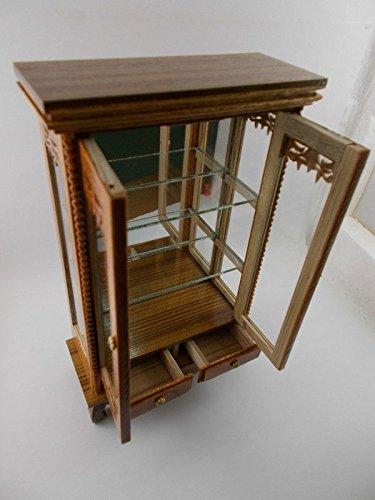 Small Vintage Teak Wood Cabinet Craft Handmade Carved Cupboard Furniture by Mystyleshop (Image #4)