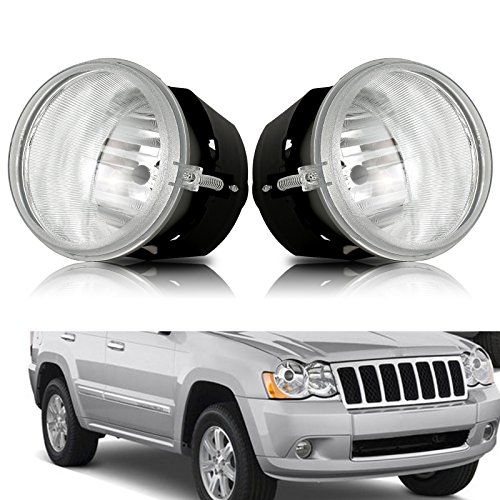cciyu Clear Lens Fog Light Lamp Replacement Replacement fit for 2005-2009 Chrysler 300C Pair Set ()