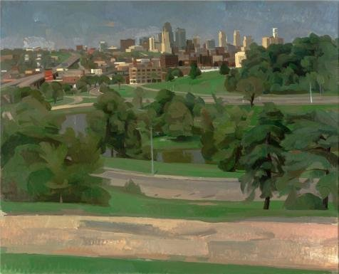 [Oil Painting 'Wilbur Niewald,Kansas City,View From Penn Valley Park,1989' 8 x 10 inch / 20 x 25 cm , on High Definition HD canvas prints is for Gifts And Bath Room, Foyer And Game Room decor,] (Redneck Costume Ideas)