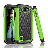 LG K3 Case, Tinysaturn(TM) [Ysaturn Series] Shock Absorbing Dual Layer Rugged Tough Defender Hard Shell Rubber Against Scratches Cover Case For LG K3 Boost Mobile / Virgin Mobile LS450 [Green / Black] Review